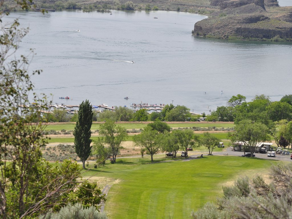 Golf Course Overlooking Park Lake
