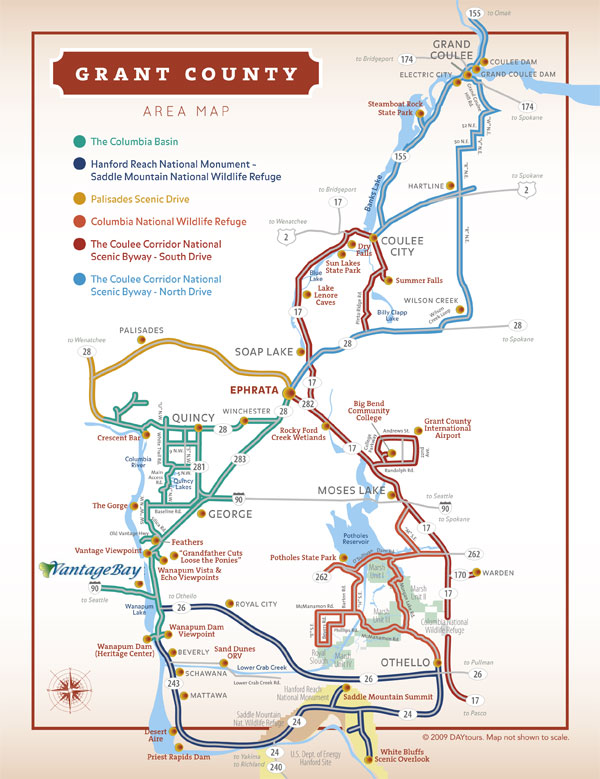 Coulee Corridor Map